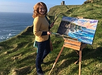 Painting at the Cliffs of Moher